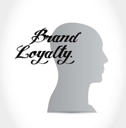 repurchase: brand loyalty brain sign concept illustration design graphic