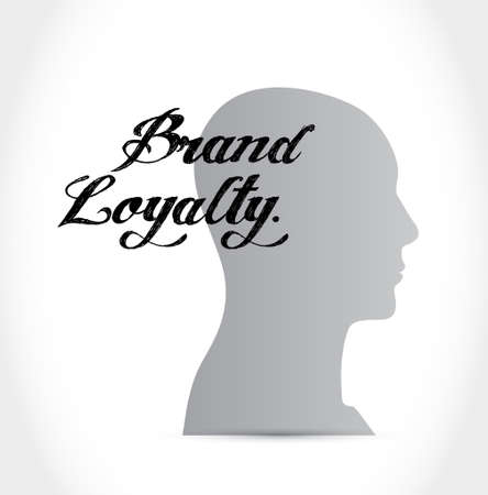 brand loyalty brain sign concept illustration design graphic