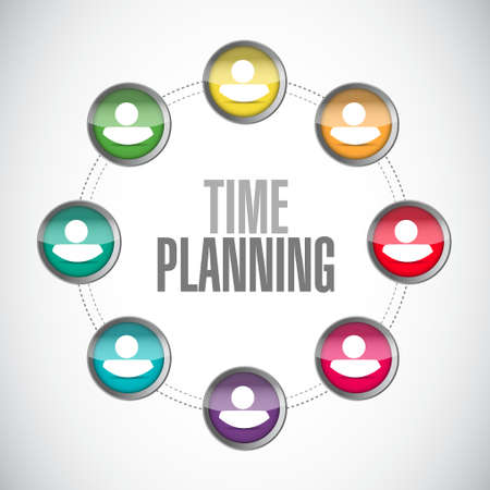 prioritizing: time planning connections sign concept illustration design graphic