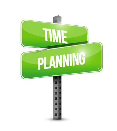prioritizing: time planning street sign concept illustration design graphic