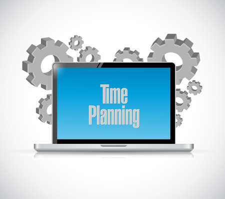 prioritizing: time planning tech computer sign concept illustration design graphic