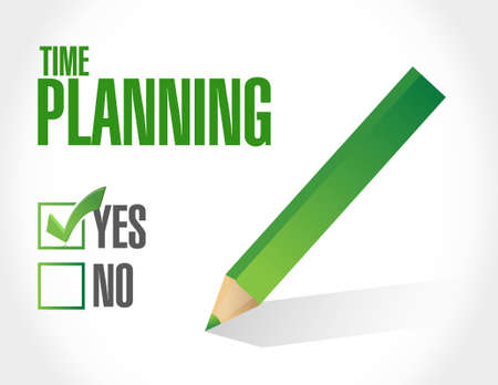 prioritizing: time planning approval sign concept illustration design graphic