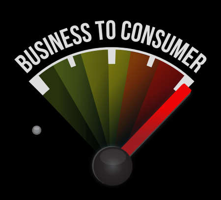 business to consumer meter globe sign concept illustration design graphic