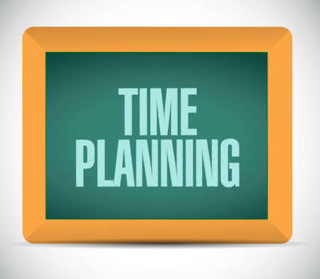 prioritizing: time planning board sign concept illustration design graphic