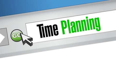 time planning online sign concept illustration design graphic