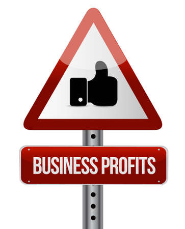 like hand: Business profits like hand sign concept illustration design graphic icon