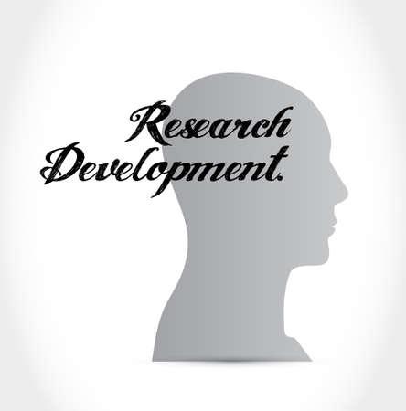 brain research: research development brain sign concept illustration design icon graphic