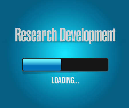 research development loading bar sign concept illustration design icon graphic Illustration