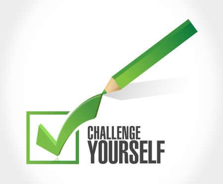 Challenge Yourself check mark sign concept illustration design graphic Illustration