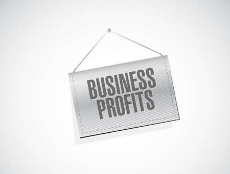 profits: Business profits banner sign concept illustration design graphic icon