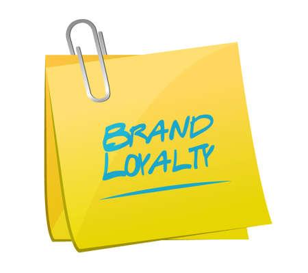 repurchase: brand loyalty memo post sign concept illustration design graphic