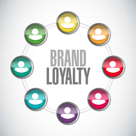 lealtad: brand loyalty people connections sign concept illustration design graphic Vectores