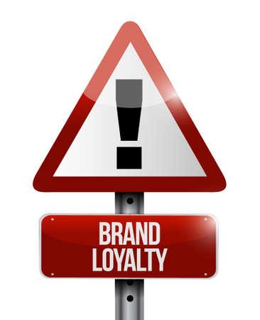 repurchase: brand loyalty warning sign concept illustration design graphic Illustration