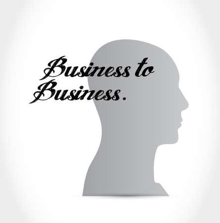 business mind: business to business mind sign concept illustration design graphic