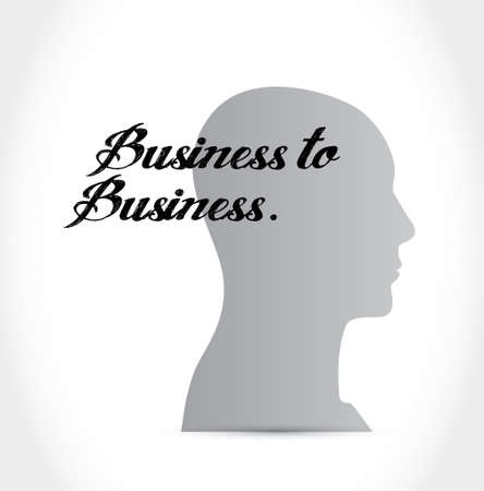 business to business mind sign concept illustration design graphic
