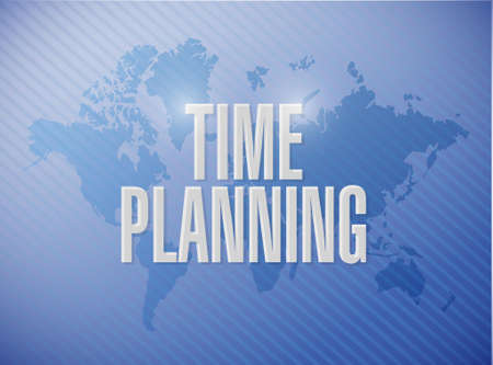 prioritizing: time planning world map sign concept illustration design graphic