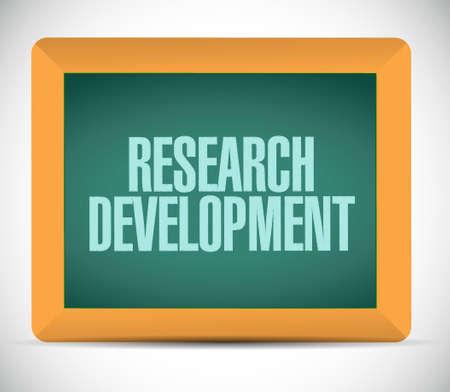 research development board sign concept illustration design icon graphic