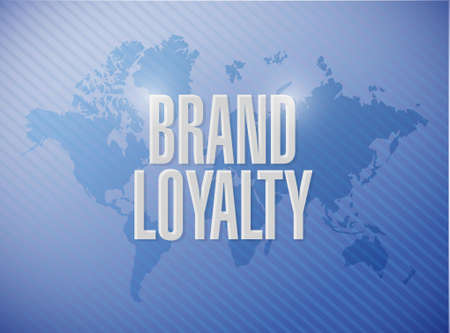 brand loyalty world map sign concept illustration design graphic