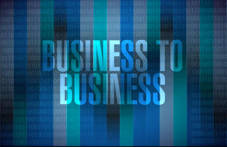 binary background: business to business binary background sign concept illustration design graphic