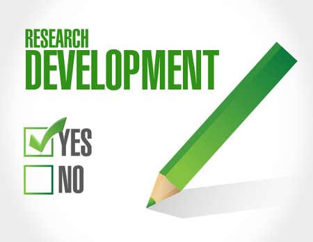 research development approval check sign concept illustration design icon graphic Illustration