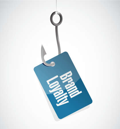 hook like: brand loyalty fishing hook sign concept illustration design graphic