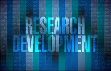 research development binary sign concept illustration design icon graphic