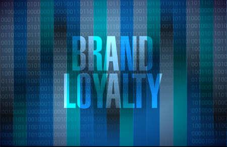 loyalty: brand loyalty binary background sign concept illustration design graphic Illustration