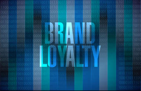 brand loyalty binary background sign concept illustration design graphic Illustration