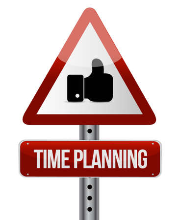 prioritizing: time planning like sign concept illustration design graphic Illustration