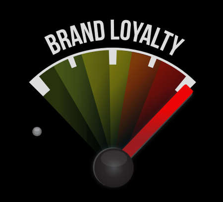 lealtad: brand loyalty meter sign concept illustration design graphic