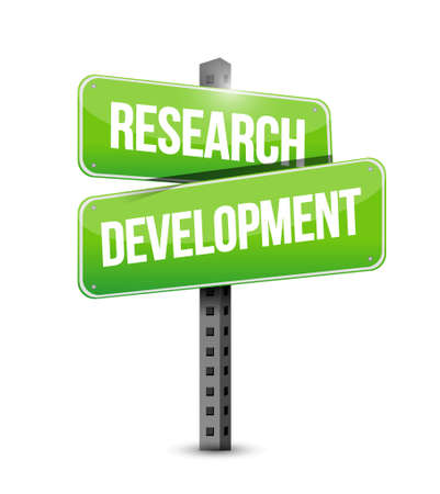 research development street sign concept illustration design icon graphic
