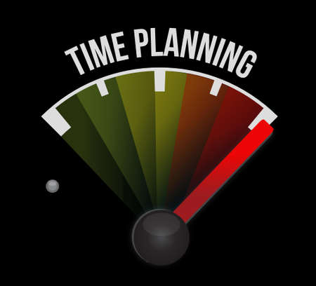 prioritizing: time planning meter sign concept illustration design graphic Illustration