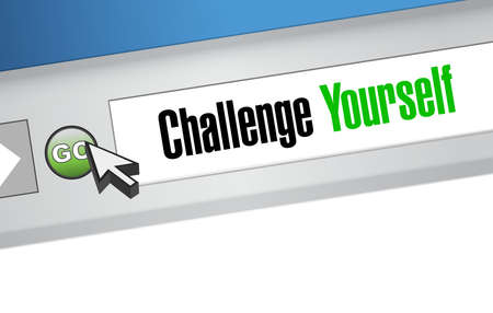 persistence: Challenge Yourself online sign concept illustration design graphic
