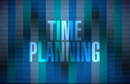 prioritizing: time planning binary sign concept illustration design graphic Illustration