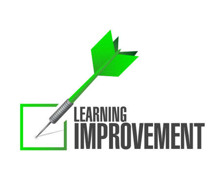 check mark sign: Learning improvement check mark sign concept illustration design graphic icon