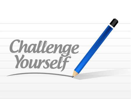 Challenge Yourself message sign concept illustration design graphic Illustration