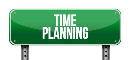 prioritizing: time planning street sign concept illustration design graphic