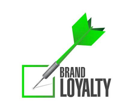 repurchase: brand loyalty check dart sign concept illustration design graphic Illustration