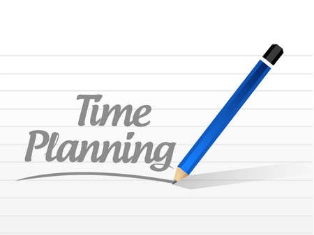 prioritizing: time planning message sign concept illustration design graphic Illustration