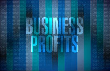 profits: Business profits binary sign concept illustration design graphic icon