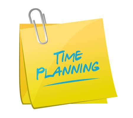 time planning memo post sign concept illustration design graphic