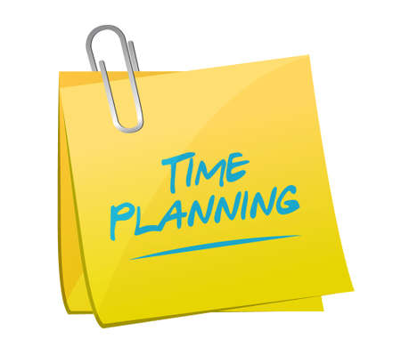 planificacion: time planning memo post sign concept illustration design graphic