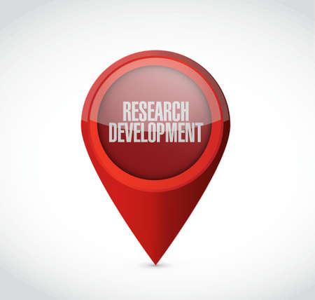 research development pointer sign concept illustration design icon graphic Illustration