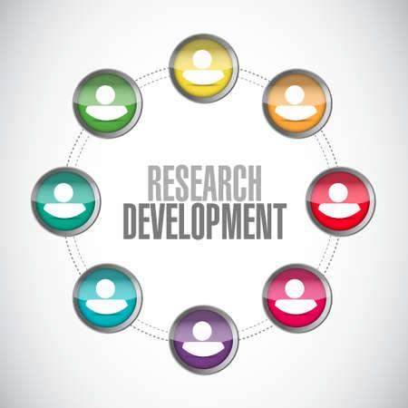 Réseau de développement de la recherche signe concept illustration icône du design graphique Banque d'images - 47573966