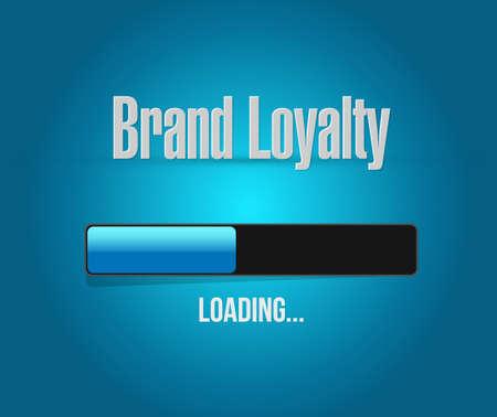 repurchase: brand loyalty loading bar sign concept illustration design graphic Illustration