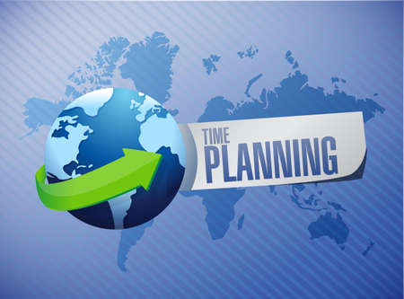 prioritizing: time planning international sign concept illustration design graphic Stock Photo