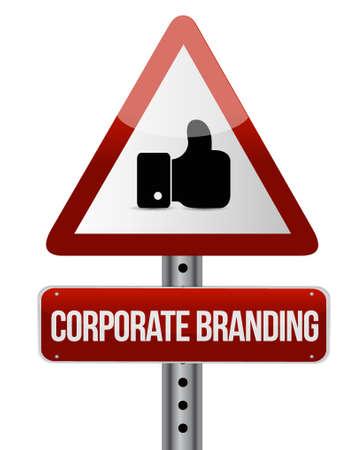 entity: Corporate Branding warning sign concept illustration design graphic Illustration