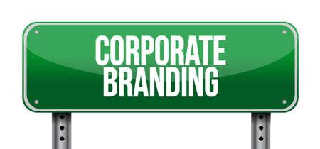 entity: Corporate Branding road sign concept illustration design graphic