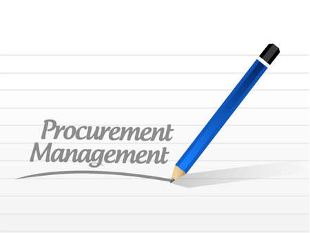 procure: Procurement Management message sign concept illustration design graphic icon Illustration