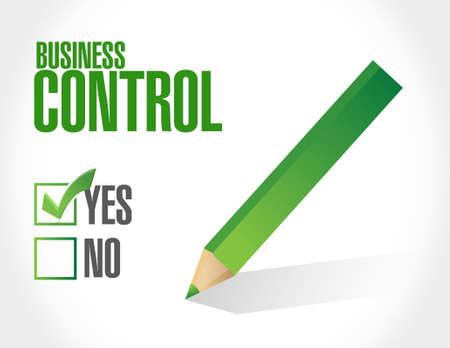 business control approval sign concept illustration design Illustration